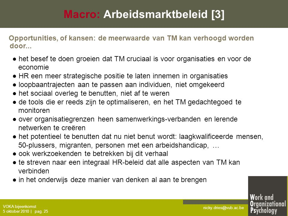 Macro: Arbeidsmarktbeleid [3]
